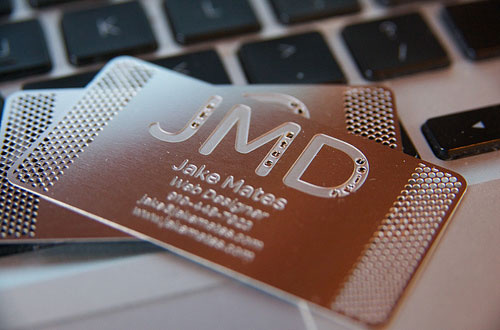 Heavy Yet Appealing Metallic Business Card