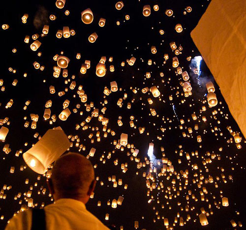 Magnificently Planned Sky Lantern Flight.