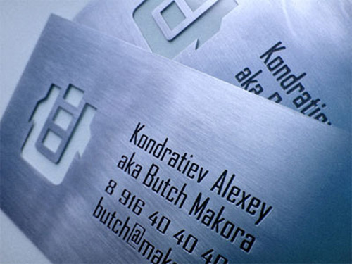 Simply Cool Metallic Business Card