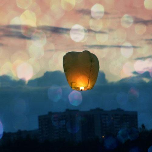 Lovable Sky Lantern Photo.