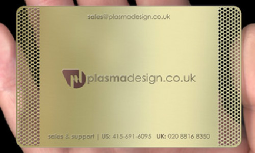Rich in Gold Metallic Business Card