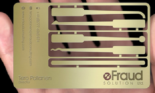 So Nice Gold Metallic Business Card