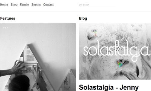 Pretty Organized Magazine-Themed Website