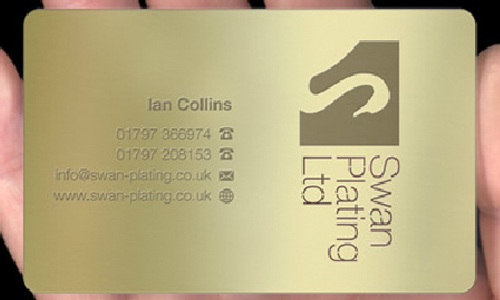 Simply Detailed Gold Metallic Business Card