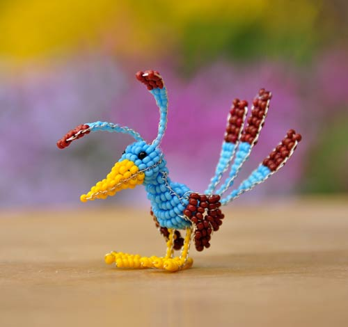 Elegant Bird Bead Art