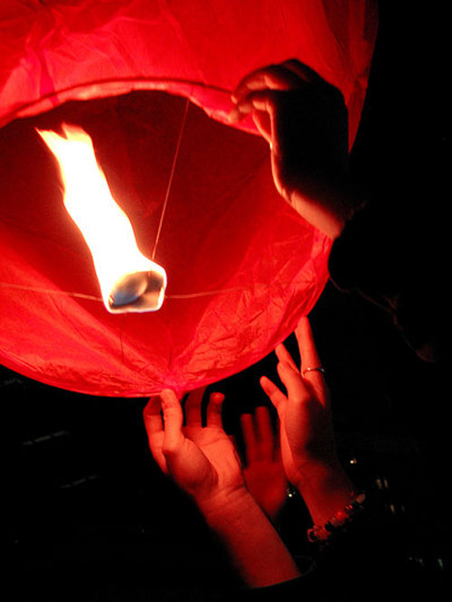 Undeniably Inviting Sky Lantern Flight.