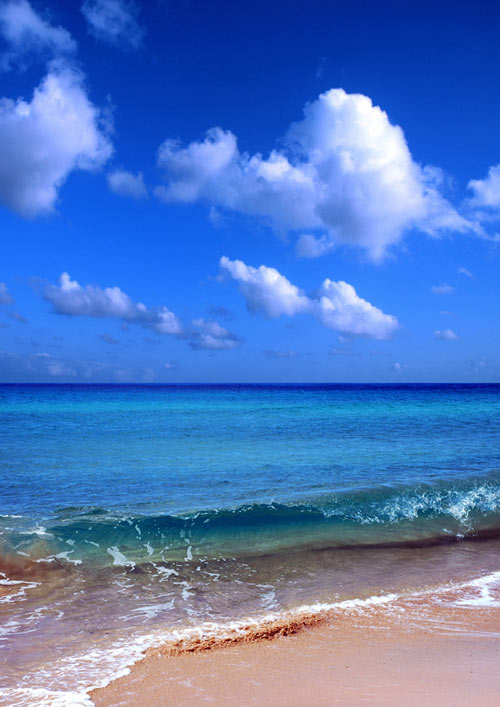 calming blue waves.