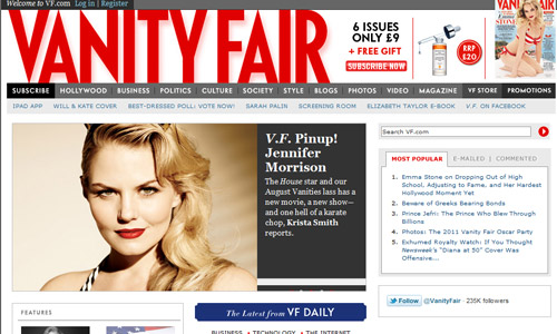 Catching Magazine-Themed Website