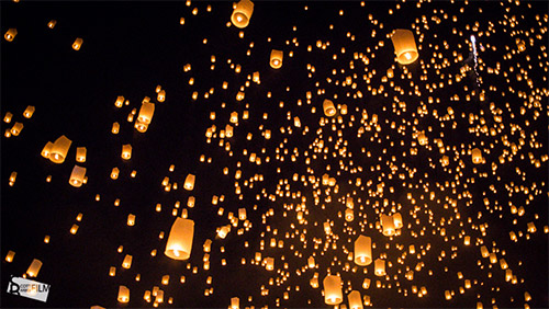 yi peng lantern festival sky lantern pictures