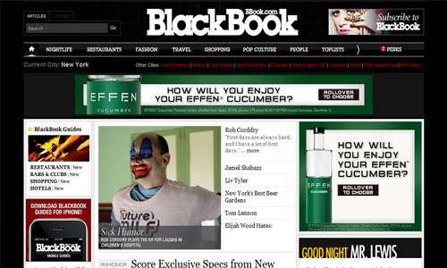 Magazine-Themed Website that Rocks
