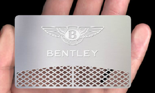 Marketing Effective Metallic Business Card