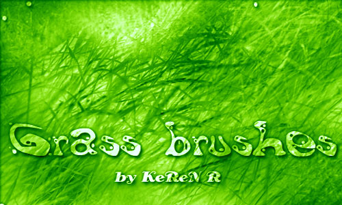 Timely Set of Grass Photoshop Brushes