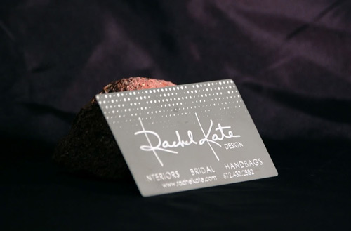 Very Creative Metallic Business Card
