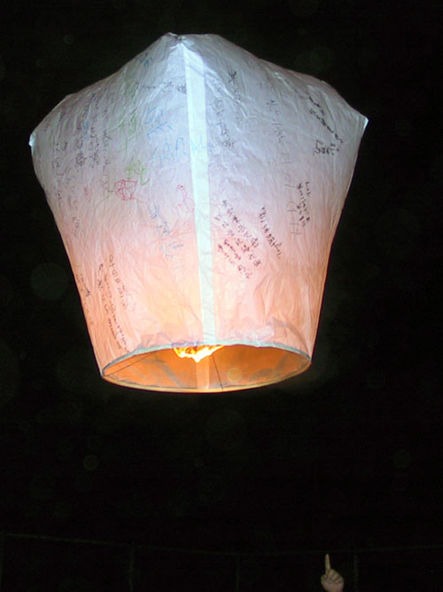 Cool Photo of Sky Lanterns.