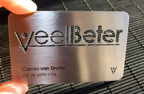 Eye-Catching Metallic Business Card