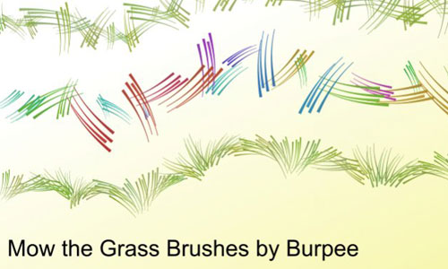 Realistic Set of Grass Photoshop Brushes