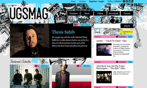 Perfectly Neat and Nice Magazine-Themed Website