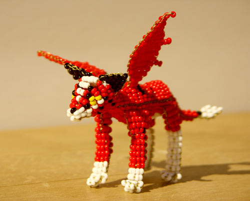 Shinning Red Bead Art