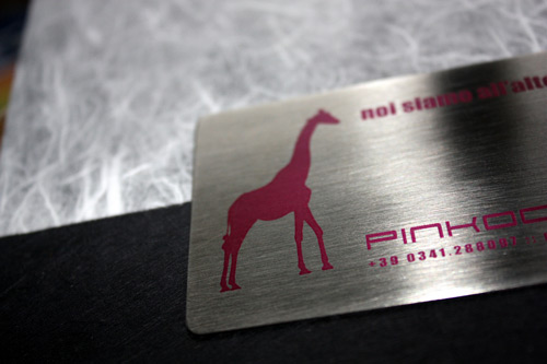 Client Inviting Metallic Business Card