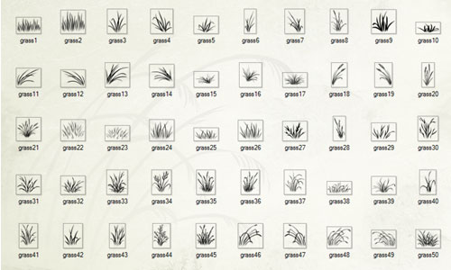 Fantastic Set of Grass Photoshop Brushes