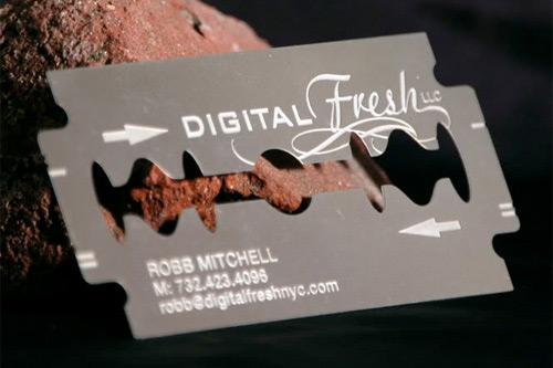 Pretty Metallic Business Card