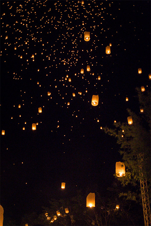 flying sky lantern pictures