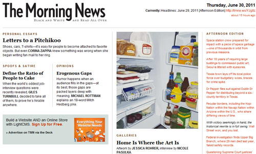 Neat Magazine-Themed Website