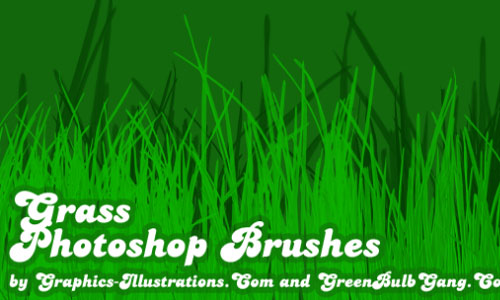 Pleasing Set of Grass Photoshop Brushes