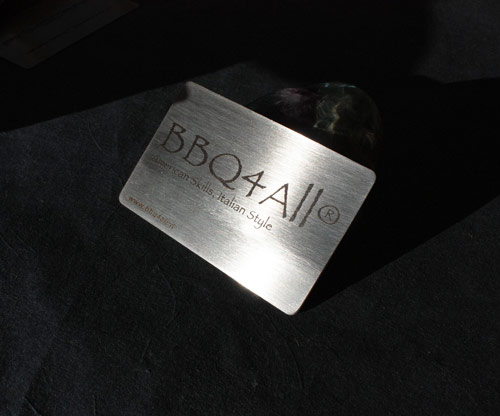 Exactly Inviting Metallic Business Card