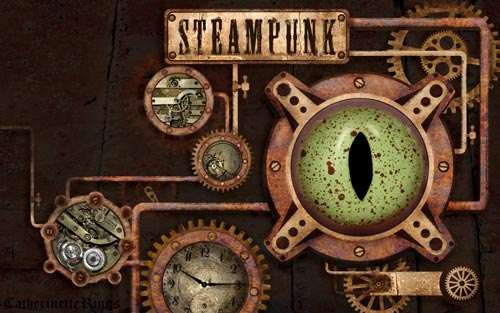 Rusty Yet Fascinating Steampunk Wallpaper