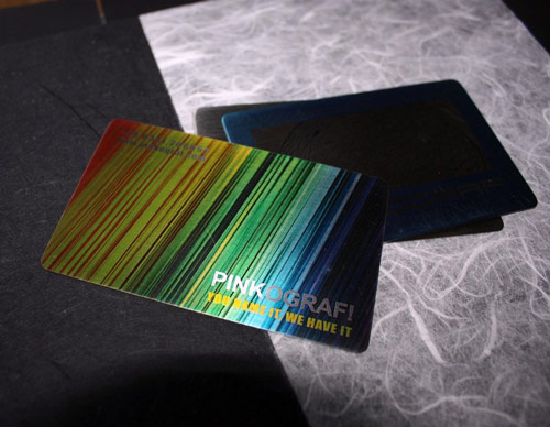 Really Colorful Metallic Business Card