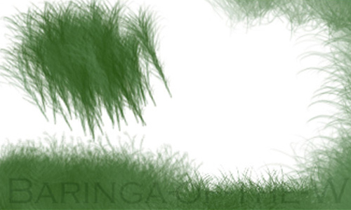 Fairly Cool Set of Grass Photoshop Brushes