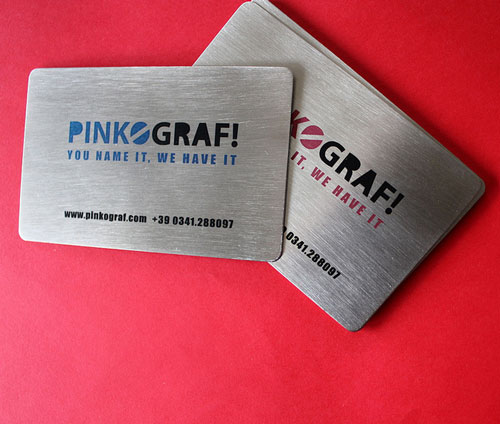 Simple Metallic Business Card