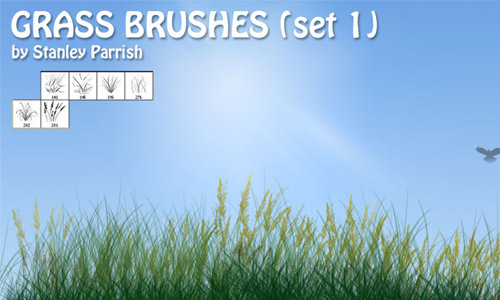 Simply Nice Set of Grass Photoshop Brushes