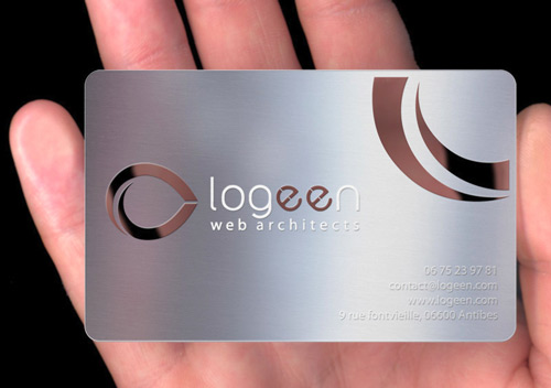 Reflective Metallic Business Card