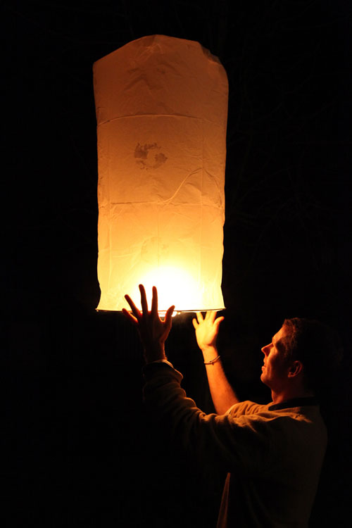 Wishful Sky Lantern Photo.