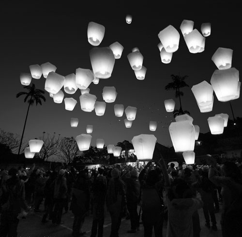 Very Beautiful Group of Sky Lantern.