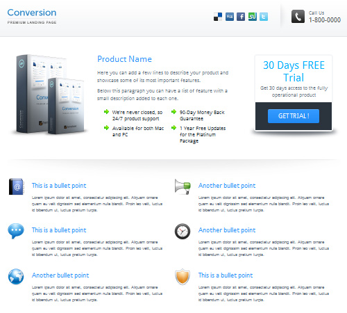 40 New Collection of Professional Landing Page Templates | Naldz ...