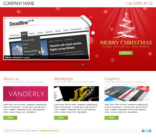 landing page for christmas