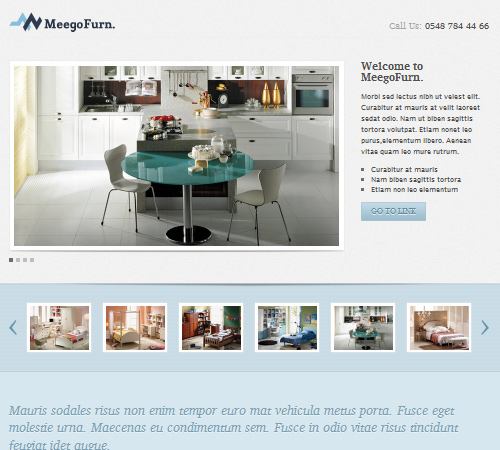 meegofurn corporate landing page