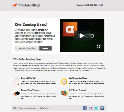 thelanding landing page