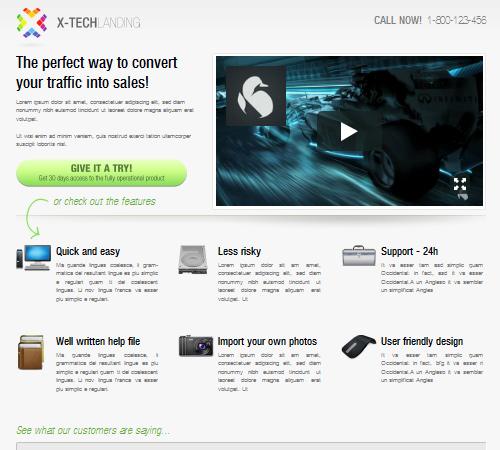 xtech landing page