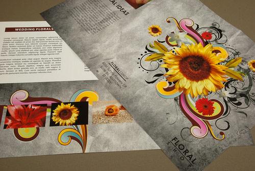 floral brochure design