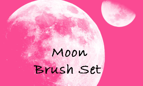 Stylish in  pink Moon Brushes