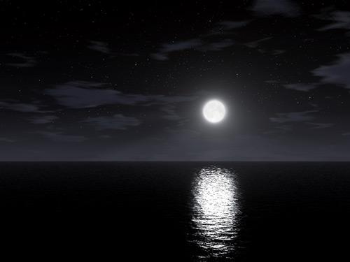 nice daylight moon photo