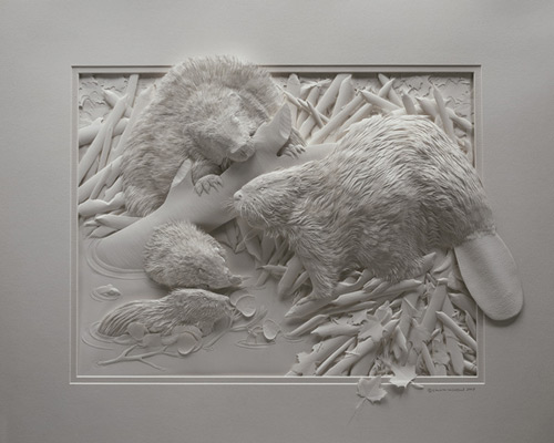 Oh so naturally cool Paper Sculpture.