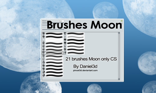 Simply cool Moon Brushes