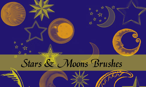 Elegantly wonderful Moon Brushes