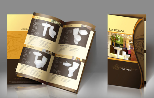 brown brochure design