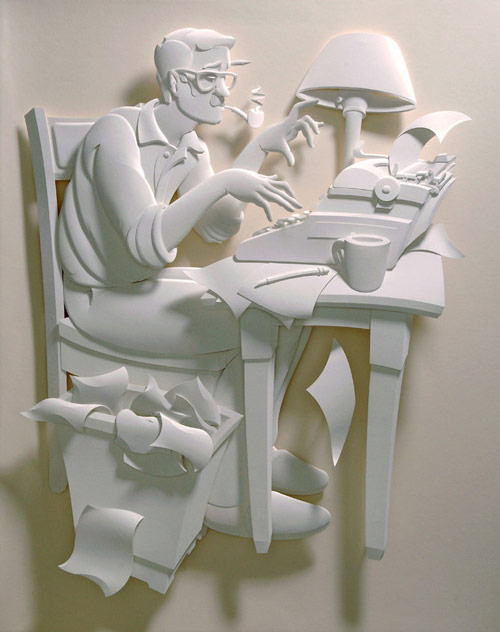 A hardworking Paper Sculpture.